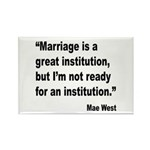 Mae West Marriage Quote Rectangle Magnet (10 pack)