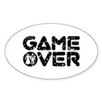 Game Over Oval Sticker