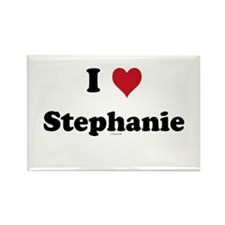 I love Stephanie Rectangle Magnet