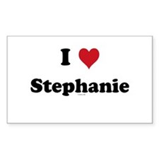 I love Stephanie Rectangle Sticker 50 pk)