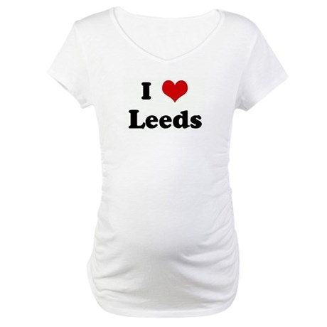 I Love Leeds Maternity T-Shirt
