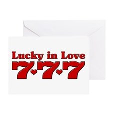 Lucky in Love 777 Greeting Card