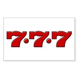 Slot Machine 777 Rectangle Sticker 10 pk)