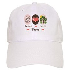 Peace Love Trees Baseball Cap
