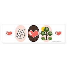 Peace Love Trees Bumper Sticker (10 pk)