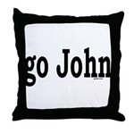 go John Throw Pillow