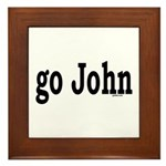 go John Framed Tile