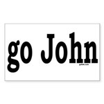 go John Rectangle Sticker