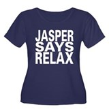Jasper Says Relax Women's Plus Size Scoop Neck Dar
