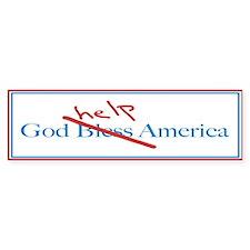 God Help America Bumper Bumper Sticker