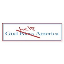 God Help America Bumper Car Sticker