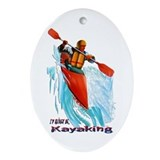 I'd Rather be Kayaking Oval Ornament