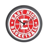 East High Basketball Wall Clock