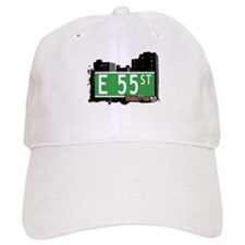 E 55 STREET, MANHATTAN, NYC Baseball Cap