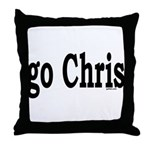 go Chris Throw Pillow