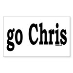 go Chris Rectangle Sticker
