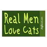 Real Men Rectangle Decal