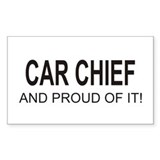 Car Chief Rectangle Decal