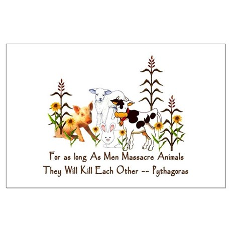 Pythagoras Vegetarian Quote Large Poster
