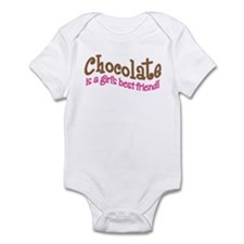CHOCOLATE IS GIRL'S BEST FRIEND Infant Bodysuit