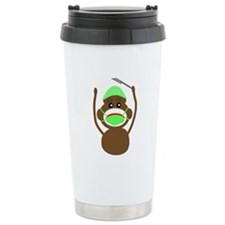 Sock Monkey Occupations Ceramic Travel Mug