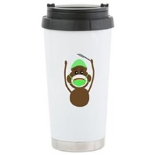 Sock Monkey Occupations Travel Mug