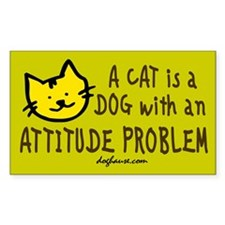 Attitude Problem Rectangle Decal