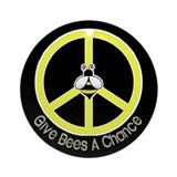 Give Bees A Chance Dark Ornament (Round)