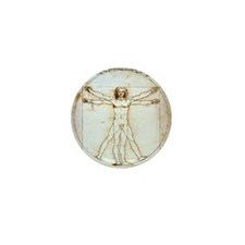 Cute Vitruvian Mini Button (10 pack)