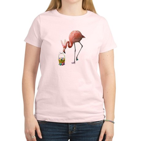Women's Light T-Shirt - Easter Flamingo
