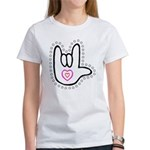 B/W Bold Love Hand Women's T-Shirt