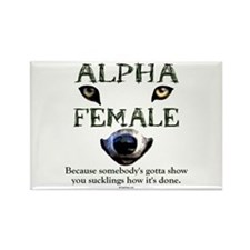 Alpha Female Rectangle Magnet