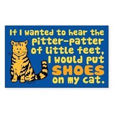 Pitter Patter Cat Rectangle Bumper Stickers