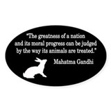 Moral Values Quote Oval Decal
