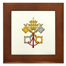 Cute Papal Framed Tile