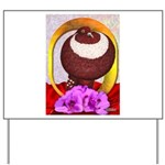 Flower Pouter Pigeon Yard Sign