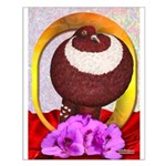 Flower Pouter Pigeon Small Poster