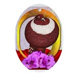 Flower Pouter Pigeon Oval Ornament