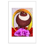 Flower Pouter Pigeon Large Poster