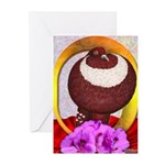 Flower Pouter Pigeon Greeting Cards (Pk of 20)