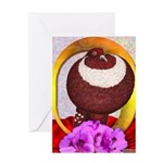Flower Pouter Pigeon Greeting Card