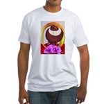 Flower Pouter Pigeon Fitted T-Shirt