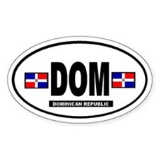 Dominican Republic International Oval Decal
