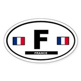 France french International Style Oval Decal