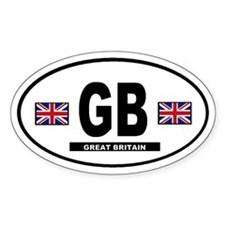 Great Britain International Style Oval Decal