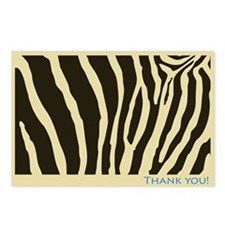 Safari Stripe Thank-You Postcard, Set of Eight