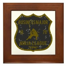 Business Major Ninja League Framed Tile
