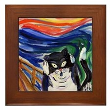 Kitty Scream Framed Tile