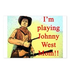 Playing Johnny West Postcards (Package of 8)