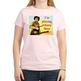 Playing Johnny West Women's Pink T-Shirt